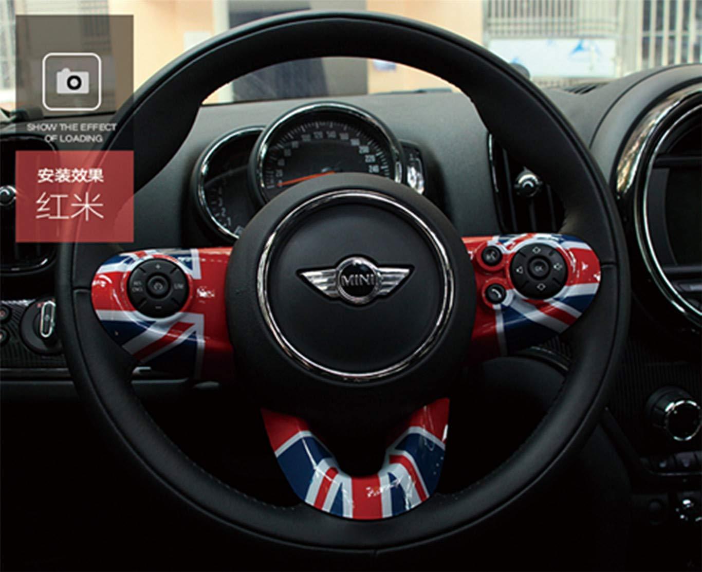 HDX Copertura per cruscotto del Volante in ABS per Mini Cooper One S JCW F54 Clubman F55 Hardtop F56 Hatchback F57 Covertible F60 Countryman