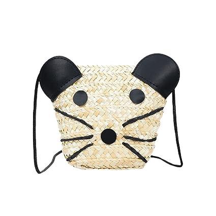 De hombro mujer, homebaby – Bolso bandolera de gato bolso cadena plateado bolso de hombro