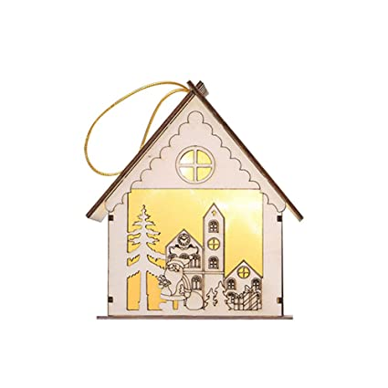 alapaste light log cabin decorations for christmas tree5 kinds ornaments - Kinds Of Christmas Trees