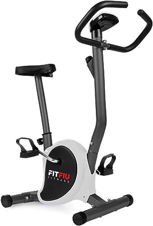 Fitfiu Fitness BEST-100 - Bicicleta estática ultracompacta, regulable en 8 niveles de resistencia, sillín ajustable en altura y pantalla LCD, ...
