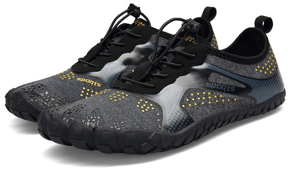 JOOMRA Unisex Barefoot Water Shoes Breathable Quick Dry Gym Athletics for Running Walking Fishing Camp Outdoor Minimus Training Beach Aqua Shoes Black 9.5 US Women's / 8 US Men's by JOOMRA (Image #7)