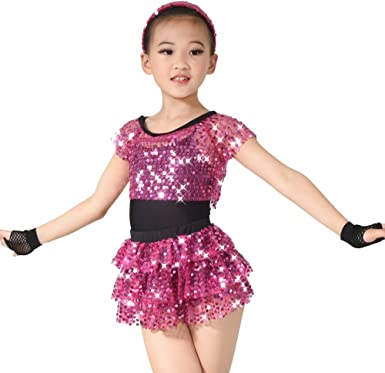 Amazon.com: MiDee Dance Costume 6 Pieces Outfit for Girls (SC, Pink):  Clothing