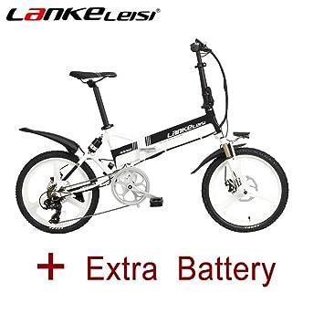 LANKELEISI G550 - Patinete eléctrico plegable de 20 pulgadas ...