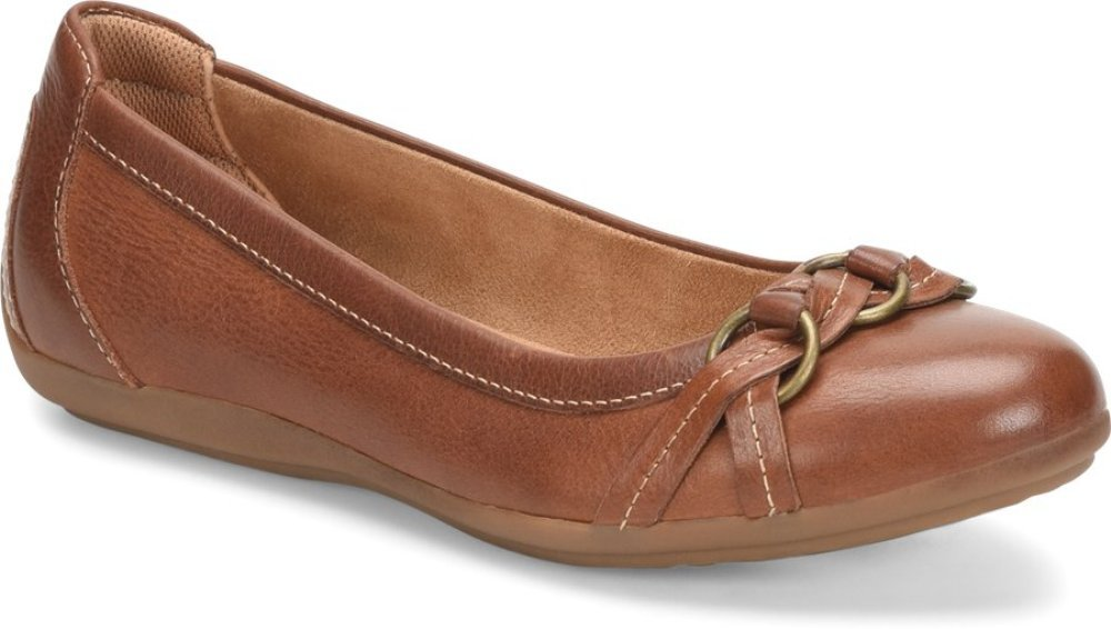 Comfortiva Women's, Maloree Slip on Flats B07BRZPNW3 7 M US|Cognac