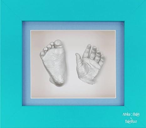 """BabyRice – Kit para crear moldes con 6 x 5 """"azul 3d caja marco"""