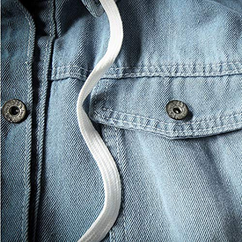 Pull Manches hauts Chemisier Longues Ihengh Casual Homme Tops Sweat Imprimé Splicing À Denim Sweatshirt Capuche Bleu Mens Zw8vqxv