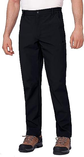 Mens Waterproof Hiking Trousers Snow Ski Fleece Lined Insulated Winter Pants