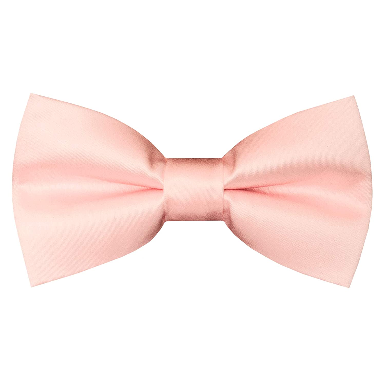 TIES R US Pre Tied Blush pink Satin Boys Bow Tie Age 4-7 Dickie Bow