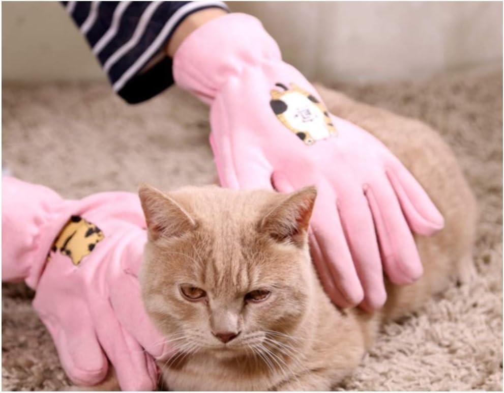 Blackhole Cat Grooming Brush Glove Pink Pair