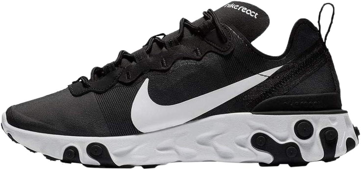 Nike W React Element 55, Zapatillas de Running para Mujer, Negro (Black/White 003), 35.5 EU: Amazon.es: Zapatos y complementos