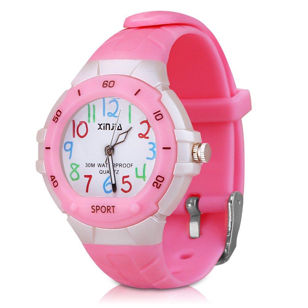 116 Kids Watch 30M Waterproof,Children Cartoon Wristwatch Child Silicone Wrist Watches Gift for Boys Girls Little Child – PerSuper (Pink)