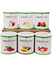 Premium NutriStore Freeze Dried & Dehydrated Fruit 6 pack – enjoyed by babies, toddlers, commuters & families for healthy tasty snacking: loved by preppers, campers & outdoorsmen for survival & emergency food. Love it like we do!