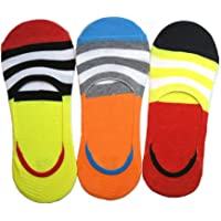 Men's and Women's Cotton Anti-slip Loafer Invisible Socks (Multicolour, Free Size) -Combo Pack of 3
