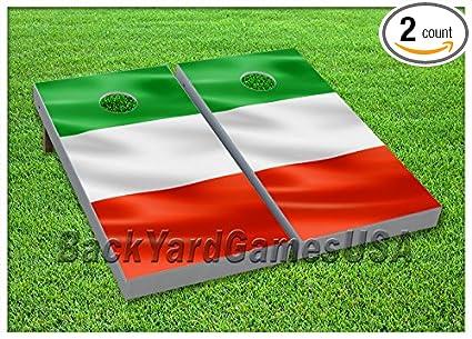 Amazon.com: Vinilo Wraps Bandera de Italia Italiano Cornhole ...