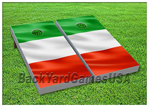 VINYL WRAPS Italy Flag Italian Cornhole Board DECALS Bag Toss Game Stickers 5 by BackYardGames