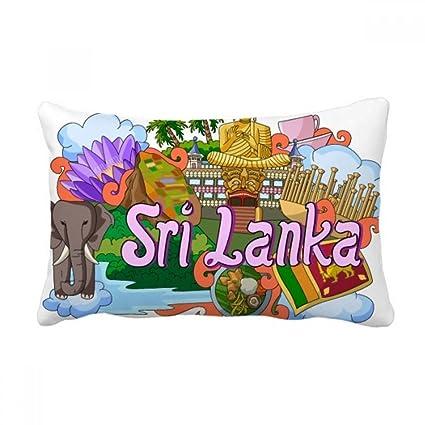 Amazon Com Diythinker Dambulla Elephant Sri Lanka Graffiti Throw