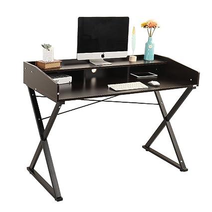 Soges 47u0026quot; Classic Computer Desk Home Office Desk Mid Century Desk  Writing Desk,