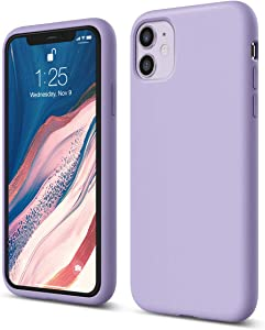 elago iPhone 11 Case |Lavender| - Premium Liquid Silicone, Raised Lip (Screen & Camera Protection), 3 Layer Structure, Full Body Protection, Flexible Bottom