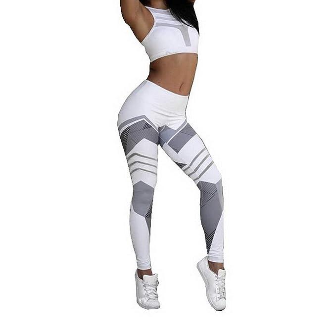 ebc65dacc274 LooBoo Mallas Deportivas Mujer Leggins Yoga Pantalones Elastico Cintura  Altura Polainas para Running Pilates Fitness Leggings