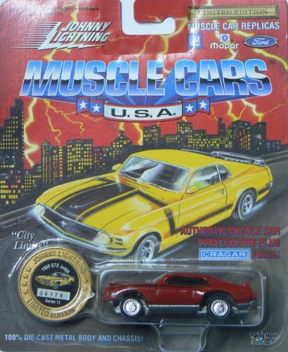 Johnny Lightning Muscle Cars U.S.A. Series 11 1969 GTO Judge Red with Collector (Muscle Cars Gto)