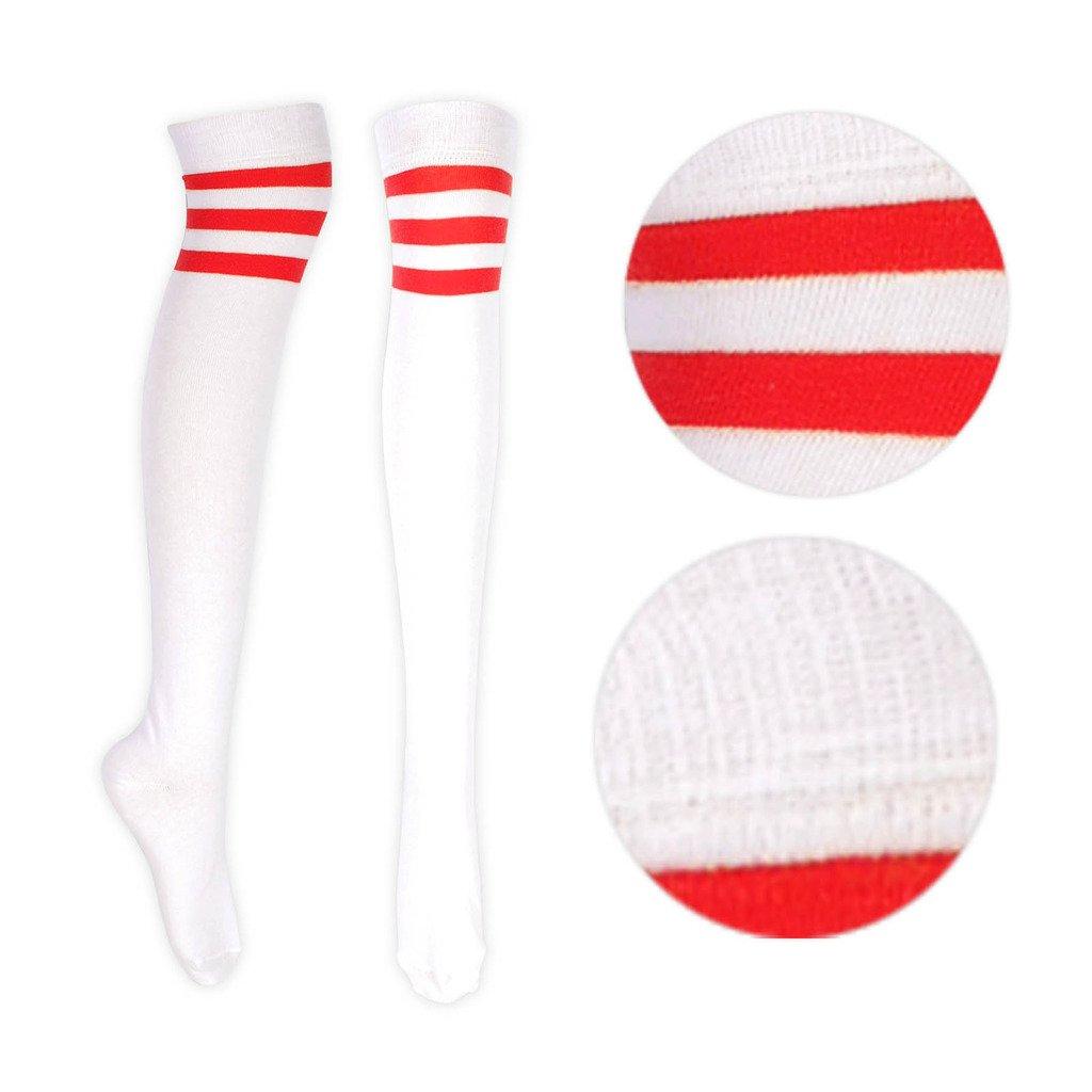 Niñas Calcetines de rayas para mujer dama Árbitro rayas calcetines ...
