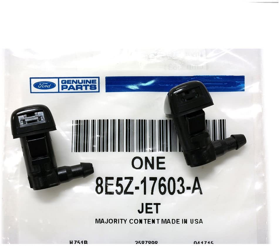 Spray Nozzle Kit Fluid Jet Replacement OE# 8E5Z17603A 8E5Z-17603-A Refer Dorman #47254 2 Front Windshield Wiper Washer Nozzles Fit 2008 09 10 11 12 Ford Fusion Lincoln MKZ Mercury Milan