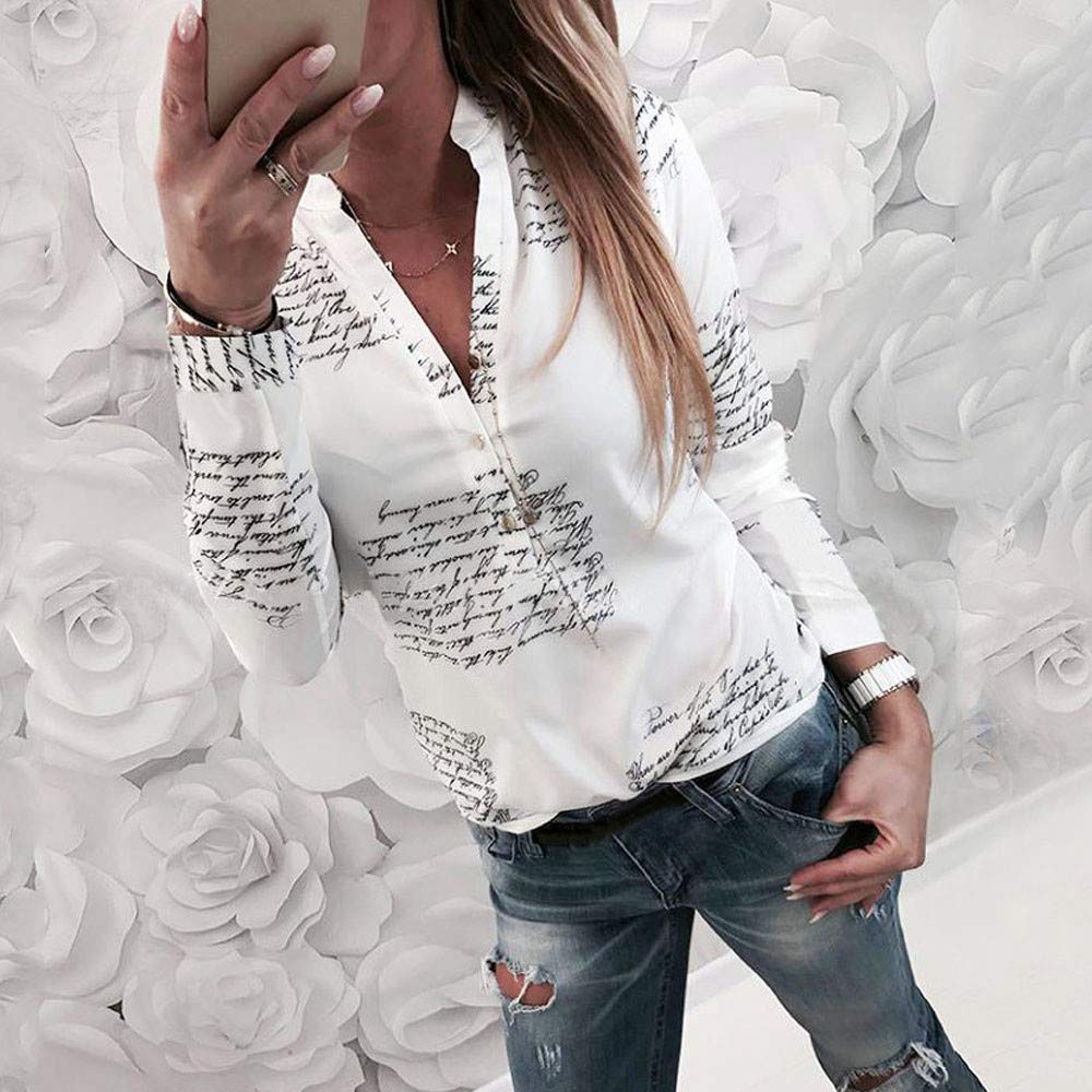 TM Women Henley Shirts Ladies Long Sleeve Casual V-Neck Blouses /& Button-Down Shirts Blouse OutTop