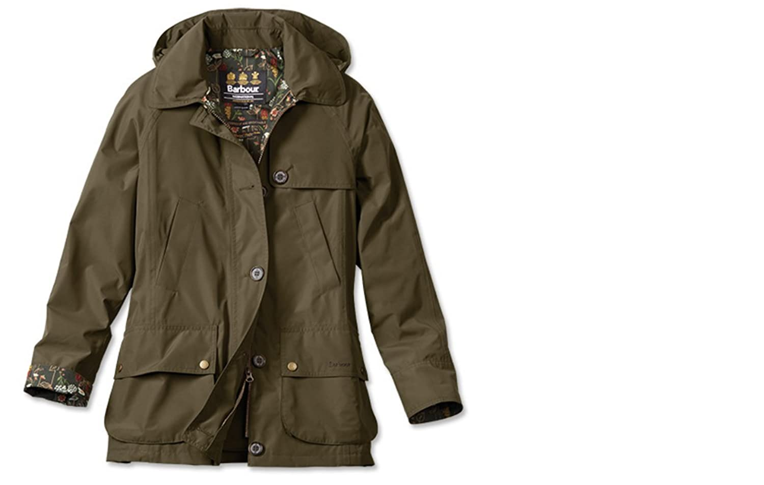 Womens barbour jacket with floral lining