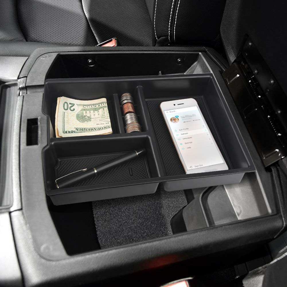 VANJING Center Console Insert Organizer Tray for Select 2011-2017 Ford Explorer Vehicles with A Cleaner Brush