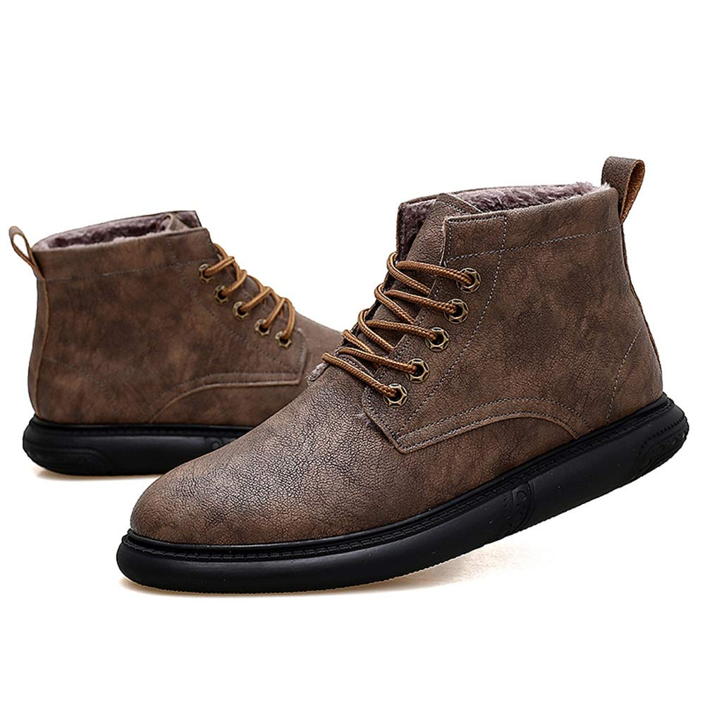 2018 Neue Ankle Kommende Stiefel, Ankle Neue Work Stiefel für Herren Casual Grünraglich Komfortable Winter Faux Fleece Inside High Top Stiefel (Farbe   Khaki, Größe   40 EU) 848abe