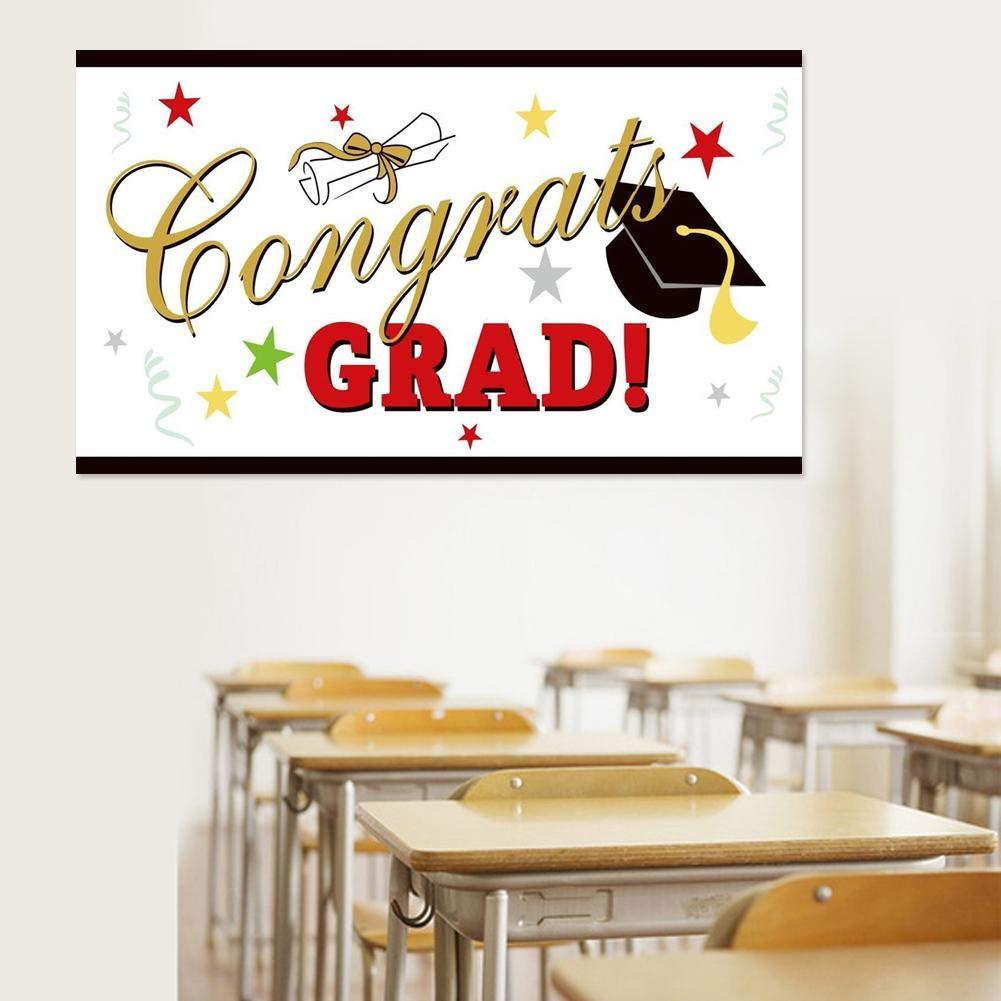 Banners de graduaci/ón Graduaci/ón Graduaci/ón Banner Banner Temporada de graduaci/ón 2019 Suministros de fiesta de graduaci/ón