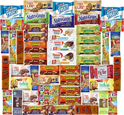Ultimate Healthy Bar & Snacks Gift Variety Pack Bulk Sampler (Care Package 50 Count) (Snacks Sampler)