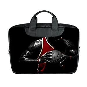 INSTALL AND EASY TO CARRY Wear& Slim &Dapper Basketball Custom Waterproof Nylon Bag for Laptop 15.6 Inches(Twin sides)