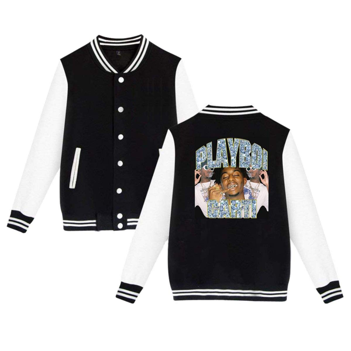 KissKid Playboi Carti Adults Baseball Uniform Jacket Sport Coat