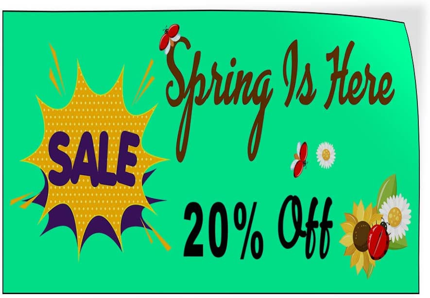 Custom Door Decals Vinyl Stickers Multiple Sizes Sale Spring is Here Business Spring Sale Outdoor Luggage /& Bumper Stickers for Cars Green 72X48Inches Set of 2