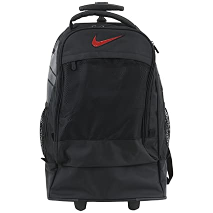 online store 33d09 f4c4f Amazon.com  Nike Rolling Backpack - black, one size  Sports   Outdoors