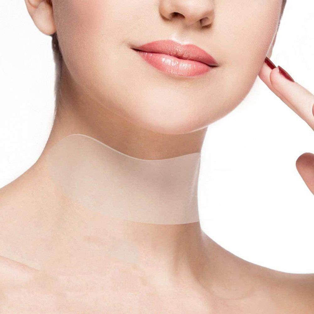 Silicone cura collo Pad, Mogoi anti rughe silicone riutilizzabile con cuscinetti per prevenire e ridurre rughe collo