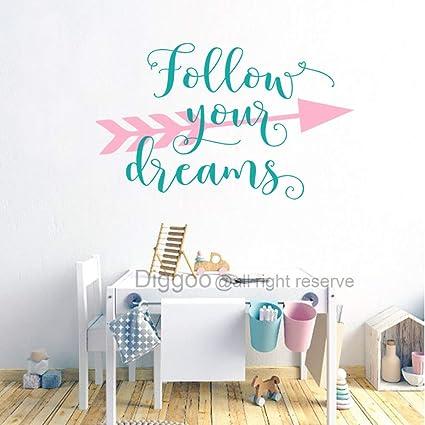 Amazon.com: Arrow Wall Decal Follow Your Dreams Wall Decal ...