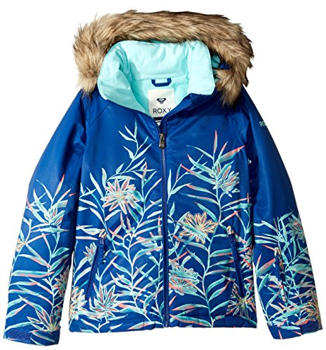Roxy Big Girls' American Pie Se Snow Jacket, Sodalite Blue_Garden Party, 14/XL by Roxy
