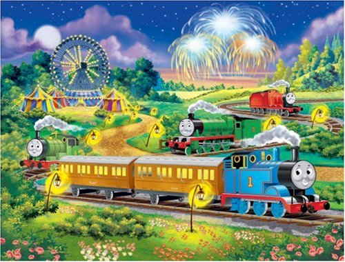 Thomas at the Carnival 100 pc glow in the dark puzzle