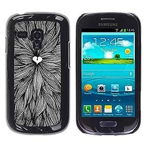 Paccase / SLIM PC / Aliminium Casa Carcasa Funda Case Cover para - Love Nature Pen Art Leaves Ink - Samsung Galaxy S3 MINI NOT REGULAR! I8190 I8190N