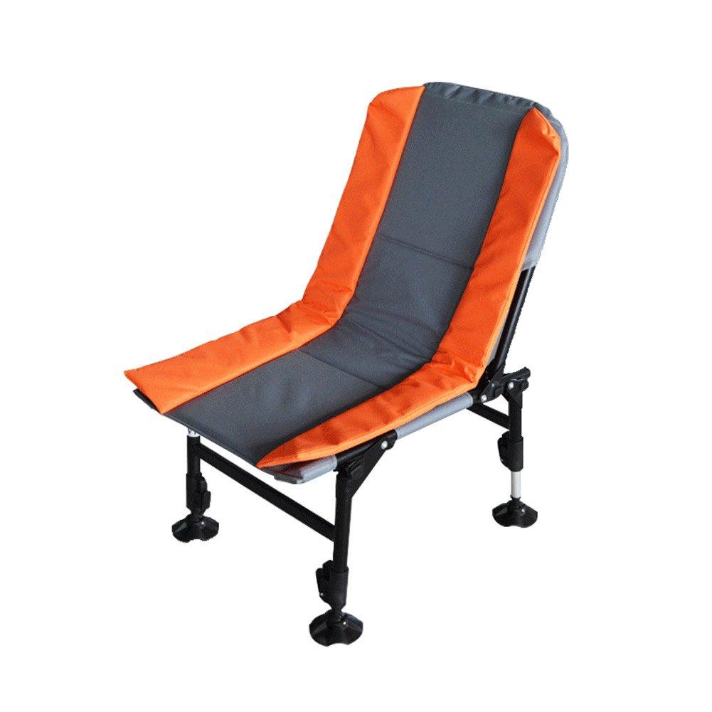 QINAIDI Fischen-Leichter Stuhl mit Justierbaren Beinen, Tragbarer Faltender Karpfen-Fischen-Im Freien Camping
