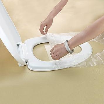 Cobertura desechable impermeable para asiento de inodoro de viaje Befitery protección de asiento de inodoro protección anti bacterias para hoteles viajes ...