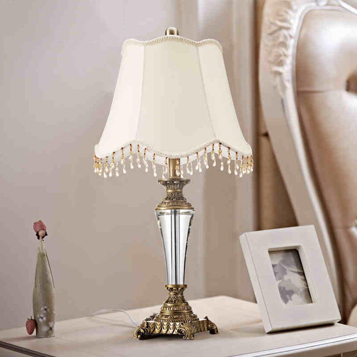 HZB European Style Luxury Bedroom Living Room Lamp Bedside Lamp Crystal Lamp (Color : B)