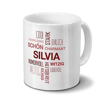 Tasse mit Namen Silvia Positive Eigenschaften