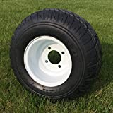 Duro Touring 18x8.5-8 Golf Cart Tire and OEM White Steel Wheel Combo