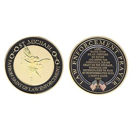 Amazon com: liumiKK Gold Plated Law Enforcement Prayer