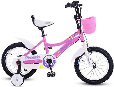 Xiaotian Bicicleta de 18 Pulgadas Chica Rosa Niño Bicicleta ...