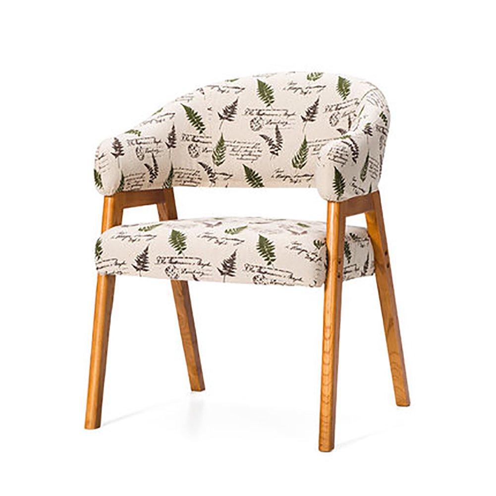 ZJM木製キッチン椅子背もたれ椅子Farbicアームチェアーラウンジチェアシンプルスタディチェア (色 : A, サイズ さいず : Set of 4) B07F375MSW Set of 4|A A Set of 4