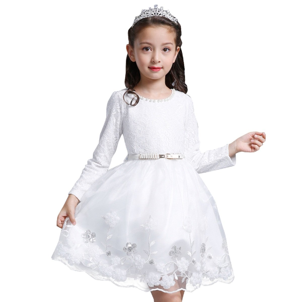 c777b3dd7 ... Frabric: Cotton/Lace Organza Blending, made This flower Girl Princess  Dresses Very Soft , comfortable, have Good Breathability and Drapeability.